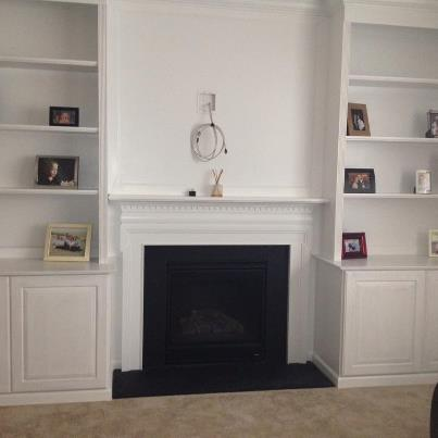 Mki Custom Trimwork And Painting Fireplace Mantels Built In Cabinets